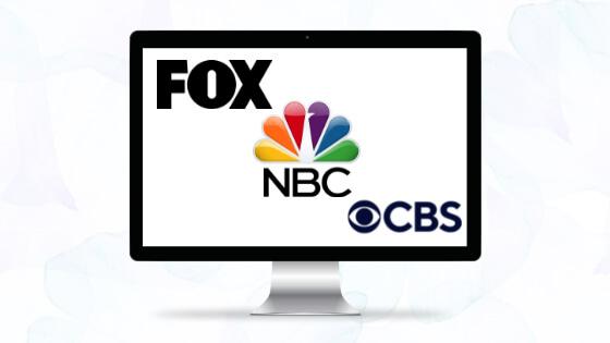 FOX, NBC, CBS global PR Banner
